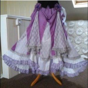 Bustle skirt Gypsy Victorian maxi